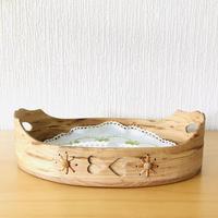 北欧伝統手工芸/Svepask Brödkorg/ヴインテージ/木製バンズトレイ
