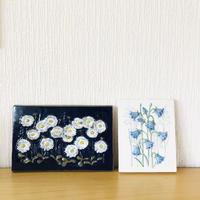Jie Gantofta/ジィガントフタ/陶板/マーガレットのお花とブルーベルのお花
