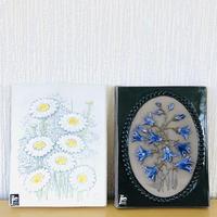 Jie Gantofta/ジィ ガントフタ/陶板/マーガレットのお花柄と釣鐘草