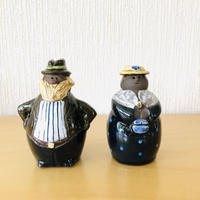 Jie Gantofta/ジィ ガントフタ/正装をしたメタボ気味な夫婦のオブジェ/12cm