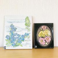 Jie Gantofta/ジィガントフタ/陶板/ワスレナグサとスイレンのお花/2枚セット