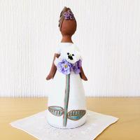 Elbogen Keramik/エルボーゲン セラミック/フラワーガール/白いお花のロングドレス