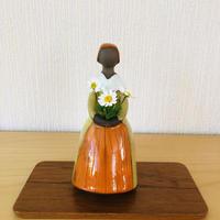 Jie Gantofta/ジィガントフタ/フラワーガール/オレンジに黄色のドレス/19cm