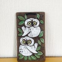 Blomma Keramik/ブロンマ セラミック/フクロウの陶板