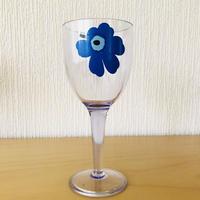 Marimekko/マリメッコ/Unikko/ウニッコ/ワイングラス/メラミン樹脂/ブルー/WG-03