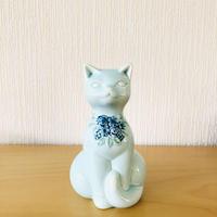 DECO/デコ/Rosa Ljung/ローサ ユング/猫ちゃん/パステルブルー/18,5cm