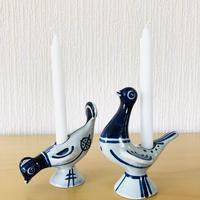 Söholm Danmark/スーホルム デンマーク/2羽の鳥さんのキャンドルスタンド/2羽セット