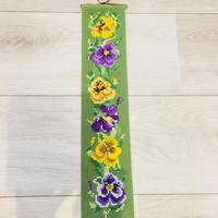 タペストリー/クロスステッチ刺繍/ヴィオラ、パンジー