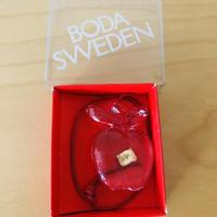Boda/ボーダ/ガラスのオーナメント/Äpple/りんご/箱入り新品