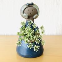 Elbogen Keramik/エルボーゲンセラミック/フラワーガール/ダークブルー