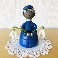 Elbogen Keramik/エルボーゲン セラミック/フラワーボーイ/ブルー