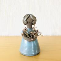 Elbogen Keramik /エルボーゲンセラミック/フラワーガール/パステルブルー
