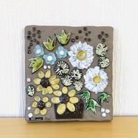 Jie Gantofta/ジィガントフタ/Annika Khilman/アニカ シールマン/陶板/カゴにいっぱいの花束