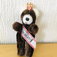ベルリンクマさん/ヴィンテージ王冠にタスキ/ダークブラウン