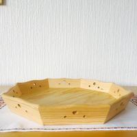 トレイ/木製/8角形