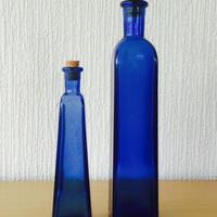 ウルトラマリンブルーの瓶コルクキャップ/2本セット