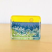 iittala/イッタラ/Helja Liukko-Sundström/クリスタルガラスのカード型オブジェ/北欧の夏の沈まない太陽