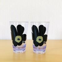 Marimekko/マリメッコ/Unikko/ウニッコ/メラミン樹脂製タンブラー/ブラック/2個セット