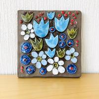 Jie Gantofta/ジィガントフタ/陶板/ブルーのチューリップ