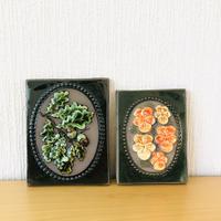 Jie Gantofta/ジィガントフタ/陶板/どんぐりとオレンジのヴイオラのお花/2枚セット