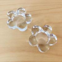 クリスタルガラス/ヴィンテージ/お花の形のキャンドルホルダー/2個セット
