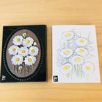 Jie Gantofta/ジィ ガントフタ/陶板/マーガレットのお花柄2種