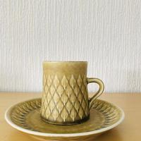 Jens.H.Quistgaard/イエンス.H.クイストゴー/レリーフ/コーヒーカップ&デザートプレート16cm/CP-01
