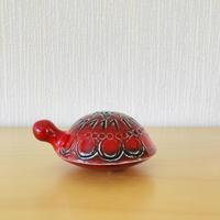 Gustavsberg/グスタフスベリ/Lisa Larson/リサ.ラーソン/Sköldpaddor/カメさん/赤