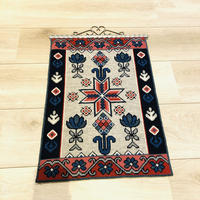 タペストリー/トヴィスト刺繍/北欧伝統柄/63,5cm x 39cm