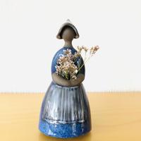 Jie Gantofta/ジイ ガントフタ/フラワーガール/D.blue(H:19cm)