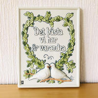 Jie Gantofta/ジィ ガントフタ/陶板/鳩のカップル