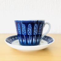 Uppsala Ekeby Gefle/ウプサラエケヴィーゲフレ/Hyacint/ヒヤシンス/モーニングカップ&ソーサー/ブルー/CS-02