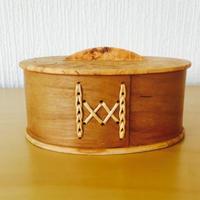 伝統手工芸品/白樺小物入れ/蓋付き