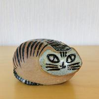 Gustavsberg/グスタフスベリ/Lisa Larson/リサ ラーソン/Lilla Zoo/小さな動物園シリーズ/丸いネコ