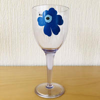 Marimekko/マリメッコ/Unikko/ウニッコ/ワイングラス/メラミン樹脂/ブルー/WG-01