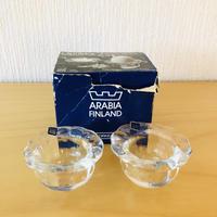 Arabia/アラビア/Nuutajärvi/ヌータヤルヴィ/Ulpukka/ウルプッカ/キャンドルホルダー、エッグスタンド/オリジナル箱入り