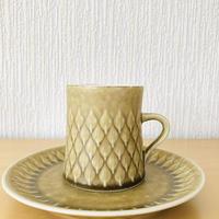Jens.H.Quistgaard/イエンス.H.クイストゴー/レリーフ/コーヒーカップ&デザートプレート16cm/CP-03