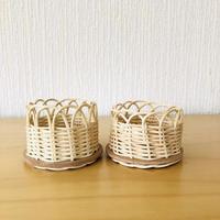 籐のグラスホルダー/ベルサ柄/2個セット