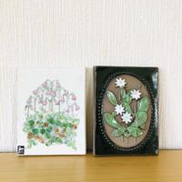 Jie Gantofta/ジィガントフタ/陶板/リネアのお花とツマトリソウ/2枚セット
