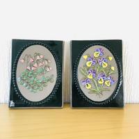 Jie Gantofta/ジィガントフタ/陶板/リネアのお花と3色スミレ/2枚セット