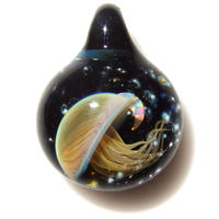 [UCK-15] deep sea crescent jellyfish pendant