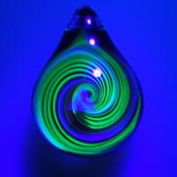 [uvRT-05] uv rainbow triangle pendant