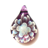 [MCN2-18] mini clear flower pendant