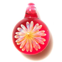 [MCUN2-62] mini clear unber flower pendant