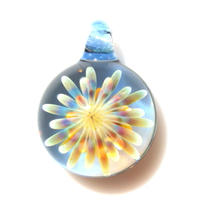 [MCUN2-67] mini clear unber flower pendant