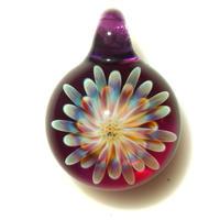 [MCUN2-36] mini clear unber flower pendant
