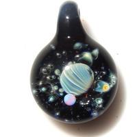 [UWP-06]glasxy double planet pendant