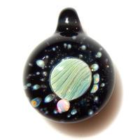 [UWP-17]glasxy double planet pendant