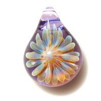 [MCUN2-17] mini clear unber flower pendant
