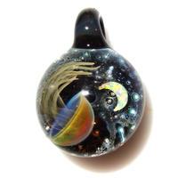 [UCK-25] deep sea crescent jellyfish pendant